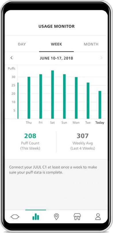 JUUL C1 Kit Başlangıç Seti (Akıllı Mod) Bluetooth Kullanımınızı İzleyin